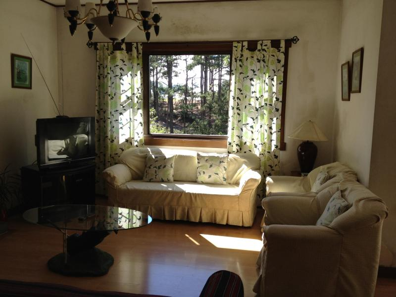 The living room has a spectacular view of Greens No. 14 and No. 15 and of Baguio's largest forest. - Charming Country Cottage inside Camp John Hay - Baguio - rentals