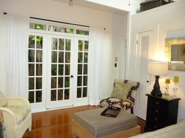 french doors brighten interior - Key West Garden House - Key West - rentals