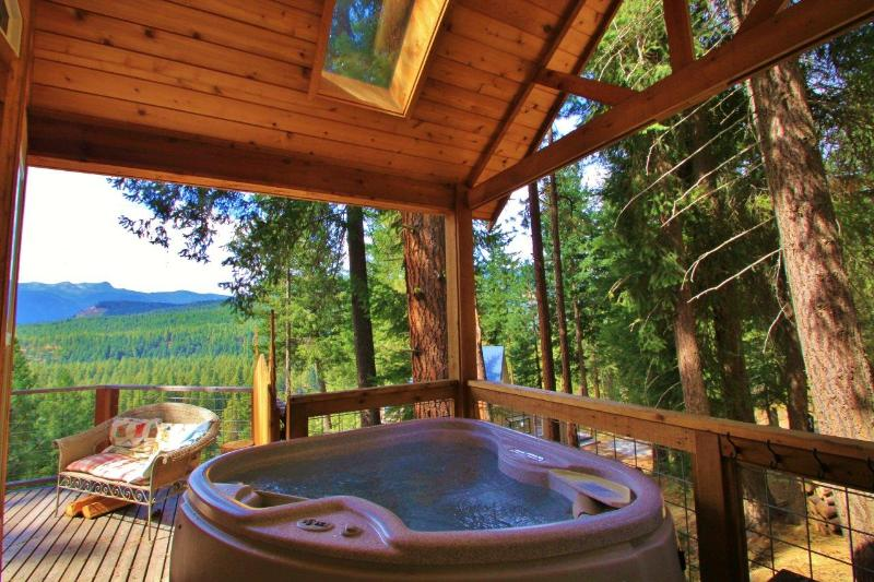 Covered hot tub for 2 that feels like your own private tree house - Das Tree Haus the perfect couple's getaway - Leavenworth - rentals