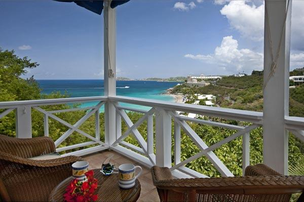 Overlooking Morningstar Beach and the Caribbean Sea, you will instantly see this villa's charm. MA CAL - Image 1 - South Side - rentals