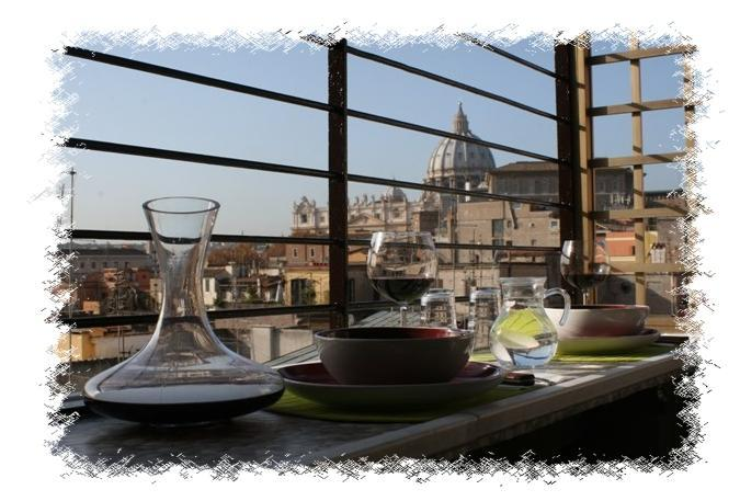 Living area on the terrace - Penthouse 2bedroom terrace AngelsGateSanPietroRome - Vatican City - rentals