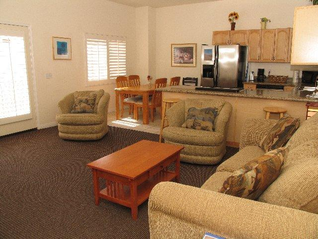 Main Area - The living, kitchen, and dining areas. - The Mission - San Diego - rentals