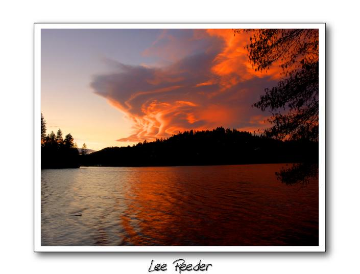 Sunset at Lake Gregory - Lake View Haven of Lake Arrowhead - Crestline - rentals