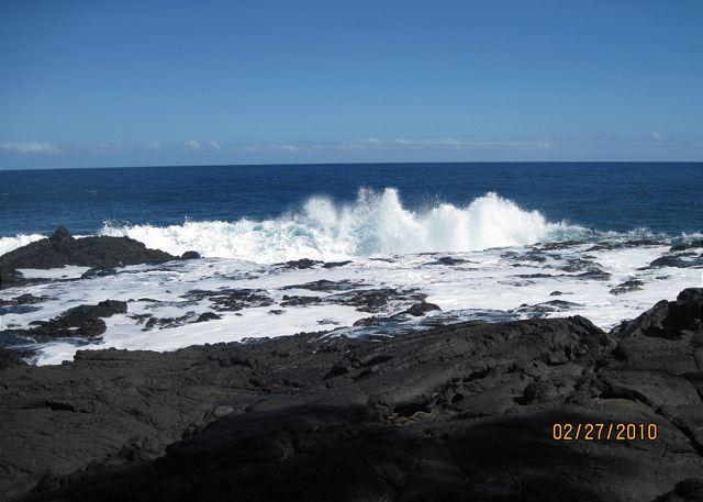 Stunning oceanfront and new lava right in front of Maka Lava Kai...don't worry, it has cooled off! - Maka Lava Kai - Near the Kalapana Flows - Pahoa - rentals