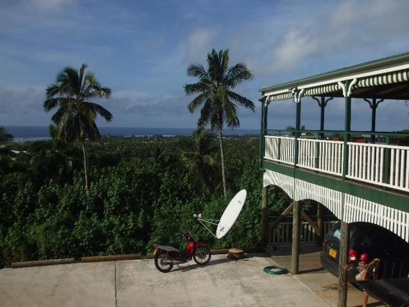Front of House and View - Highland Ocean View Holiday Home - Avarua - rentals