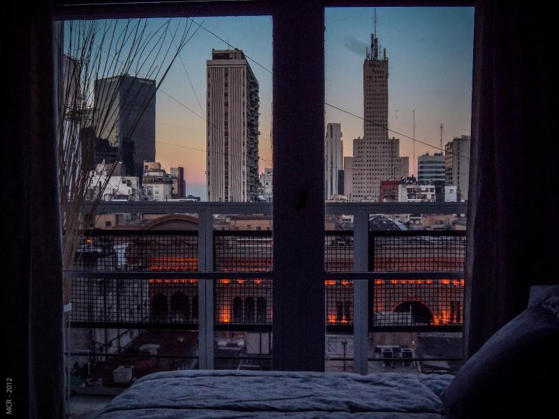 Inspiring sunset view from the bedroom - Unique View & Location in Downtown 1 BR. By Owner. - Buenos Aires - rentals