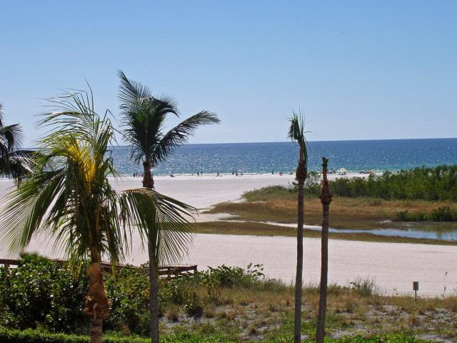 Center View from Balcony of 304 - Marco Island Vacation Rental Beachfront Beauty II - Marco Island - rentals