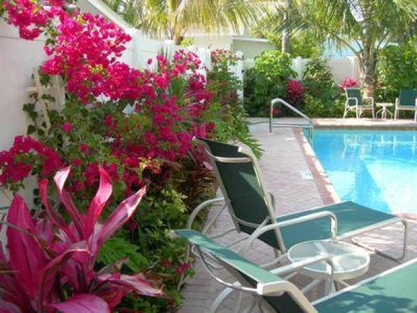 A lush tropical setting for relaxing and enjoying the gulf breeze. - 2 Bedroom Cottage, Pool - 60 seconds to the beach! - Holmes Beach - rentals