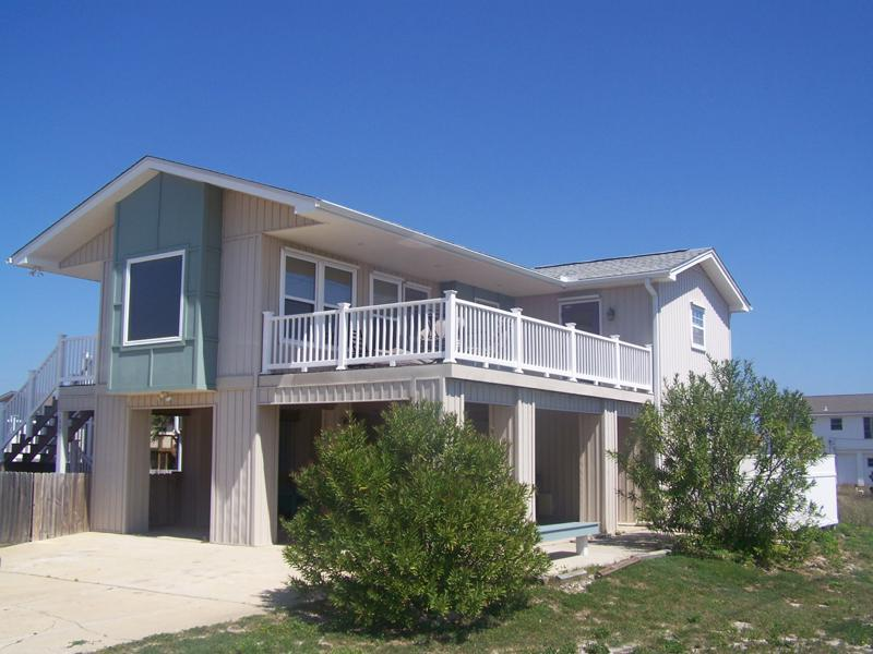 Beach Gulf Side View w Deck, Trolley Bench and Shower enclosure - Only Avail Nts Priv Home Tue 9/2-Sat 9/13 $173 Nt! - Pensacola Beach - rentals