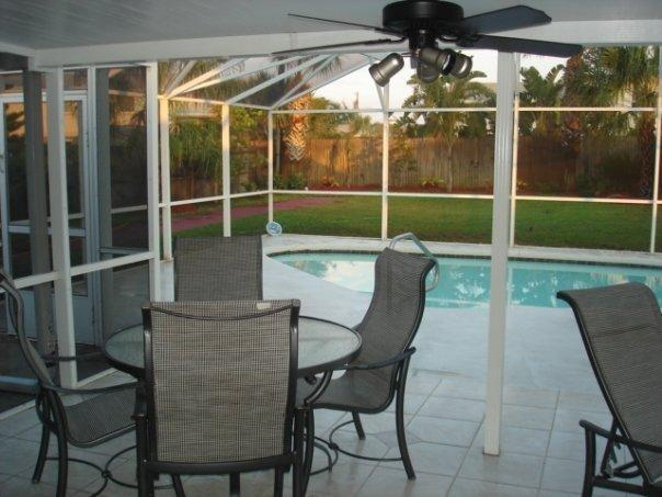 PATIO - FAMILY BEACHHOUSE W PRIVATE SOLAR HEATED POOL! - Ormond Beach - rentals
