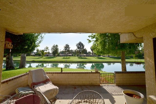 Pond view from rear of v - 2BR Villa on the Golf Course, on the Water - Palm Springs - rentals