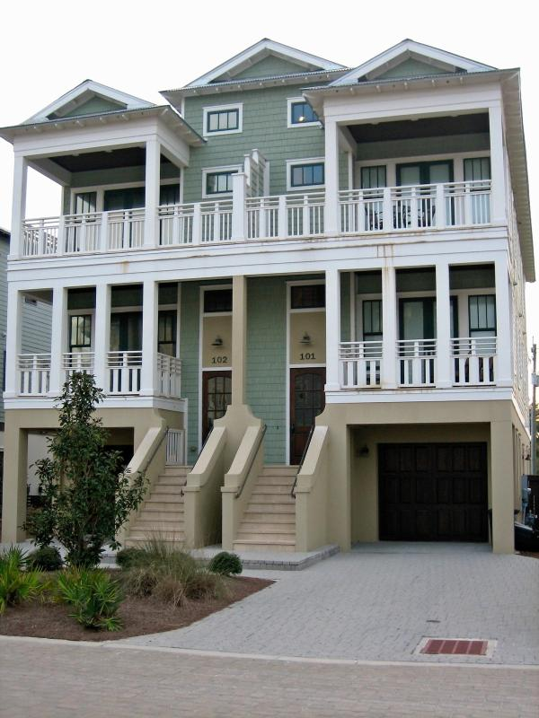 Front of home - Beautiful Gulf View Home, 100 yards to the Beach! - Inlet Beach - rentals