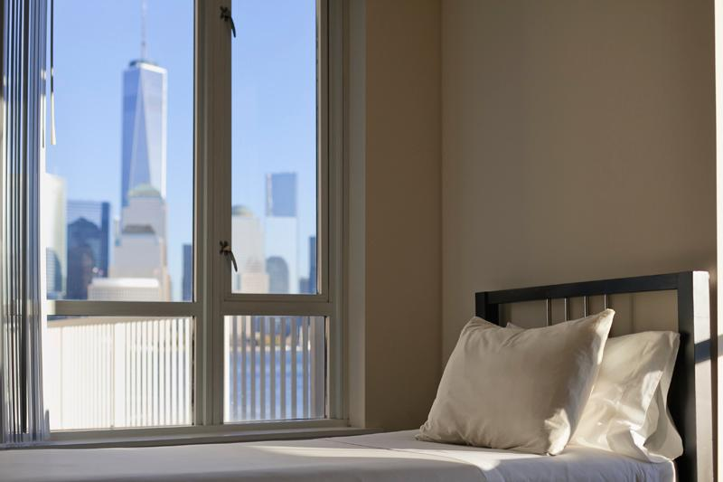 Twin bedroom - Sky City at The Harbor - 2-bedroom with private balcony! - Jersey City - rentals