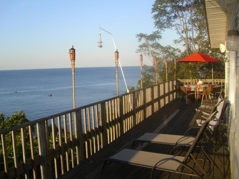 On the deck - Waterfront Beach House - Long Island North Shore - North Fork - rentals
