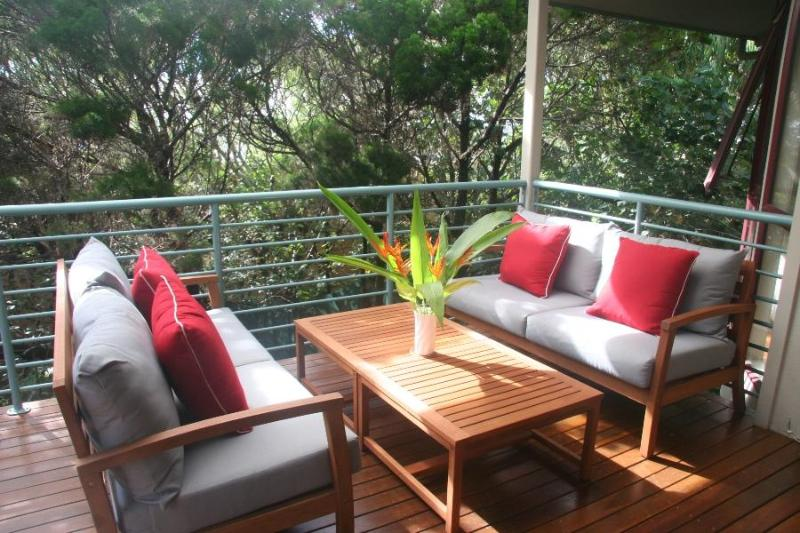 The main verandah; a perfect place to relax and unwind - Carramar @ Marcus, Sunshine Coast - Pet Friendly - Marcus Beach - rentals