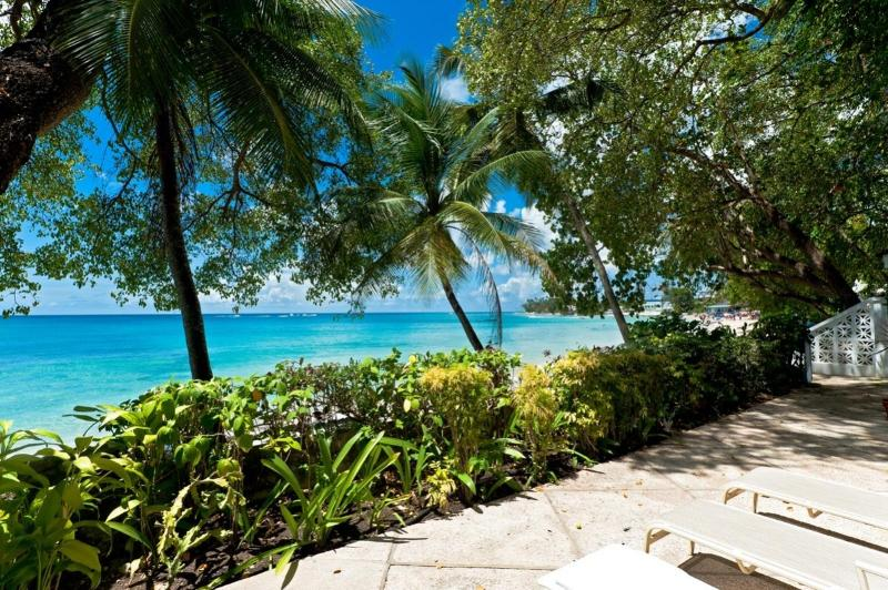 Sea Isle at Mullins Beach, Barbados - Beachfront, Well Kept Garden, Large Enclosed Verandah - Image 1 - Mullins - rentals