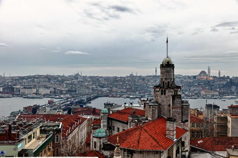 View from the terrace - Historical Flat in Galata with Bosphorus view - Istanbul - rentals