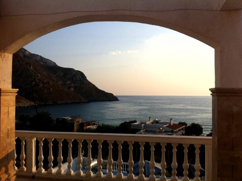 view from the balcony - Alkyonis beachfront near climbing andhiking routes - Kalymnos - rentals