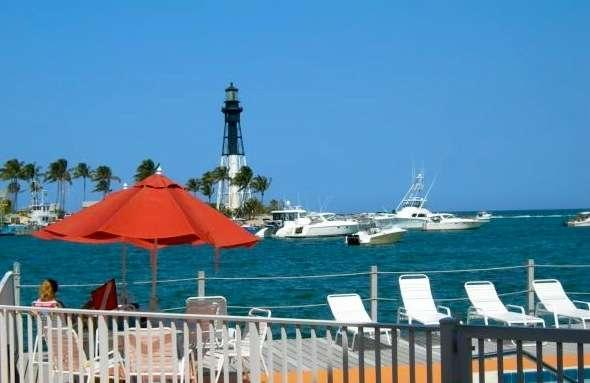 Your view - SUPER AFFORDABLE!!   Waterfront Studio Pompano Bch Fl.  Lighthouse View - Pompano Beach - rentals