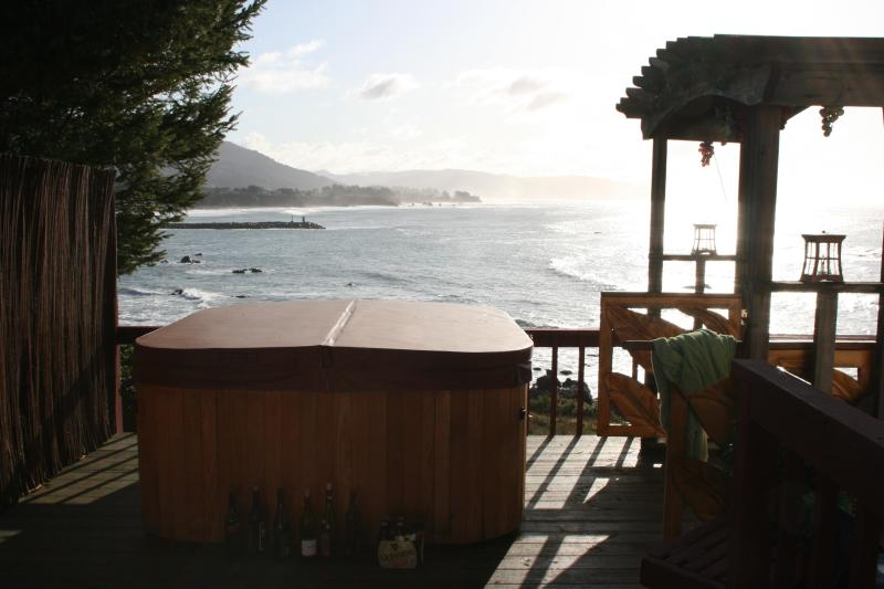 Hot tub just outside your bedroom door - Mermaid's Muse B&B:  overlooking the dramatic Oregon coast - Brookings - rentals