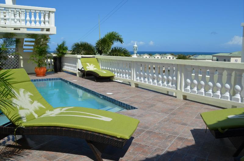 Poolside with Atlantic Ocean in the background - Luxury Island Living with Fabulous Views & Comfort - Frigate Bay - rentals