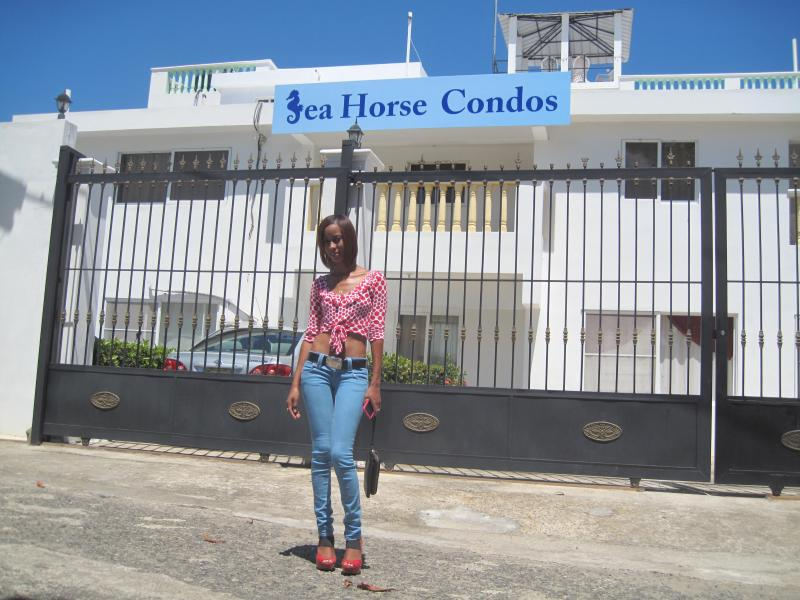 welcome to seahorse condo !!  a shot of our 12 condo complex from the front  - Seahorse  Condos  # 5  1 bedroom ocean view - Puerto Plata - rentals