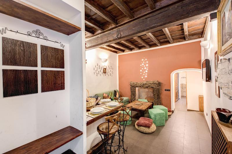 Living room - Historic center of Rome Trastevere great location - Rome - rentals