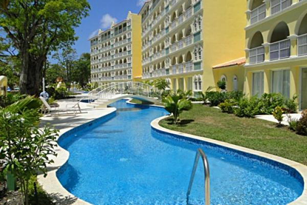 Outside view - Sapphire Beach 115: Poolside at your Door - Christ Church - rentals