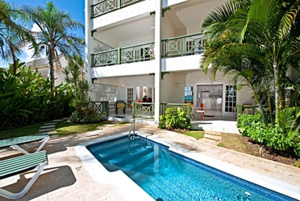 Casual Poolside relaxation  - Leith Court 16: Casual Beachfront Apartment - Christ Church - rentals