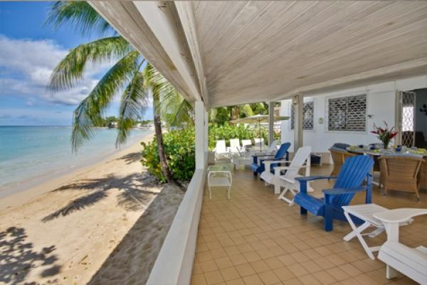 Aquamarine beachfront terrace - Aquamarine: Comfortable Beachfront Home - Saint Peter - rentals