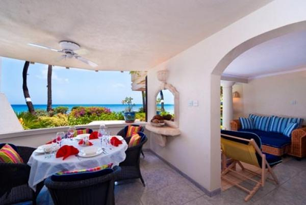 Gorgeous outside patio view - Reeds House 5-Surf's Up: Life's a Beach - Saint James - rentals