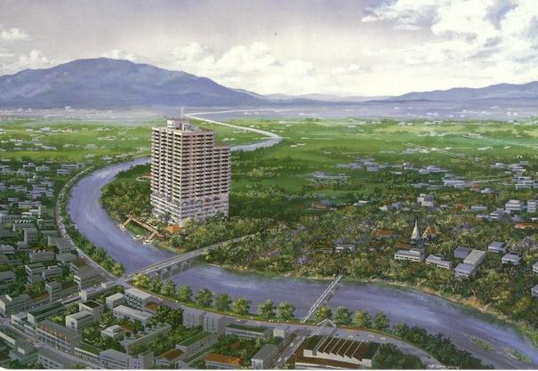 Aerial View of Rimping Condominium - Chiang Mai 2 bed fully equipped condo US$1090/mth - Chiang Mai - rentals