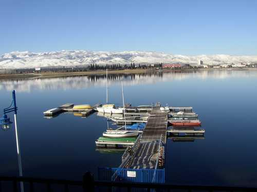 Dock in Winter from Master Balcony - Waterfront Treasure - Sparks - rentals