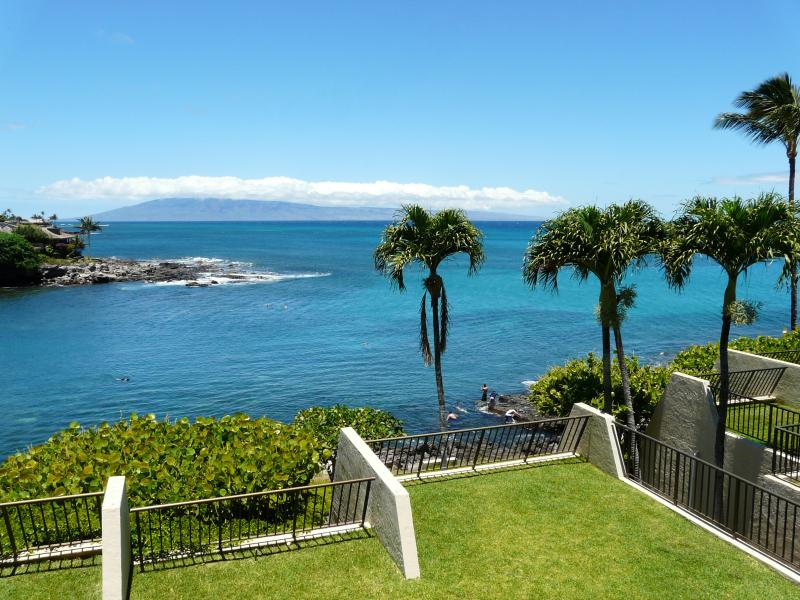 View from lanai on a typical day - Napili Point C21 Oceanfront 2 BR Great Rates DISCOUNTS! - Napili-Honokowai - rentals
