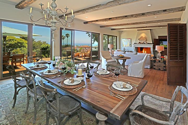 Sunshine flows between Living and Dining Rooms - Point Of View - Santa Barbara - rentals