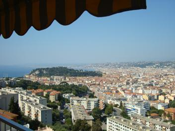 View from Terrace of Port, Nice Old Town &  Bay of  Angles - Deluxe Apt A/C Parking Balcony Sea View! - Nice - rentals
