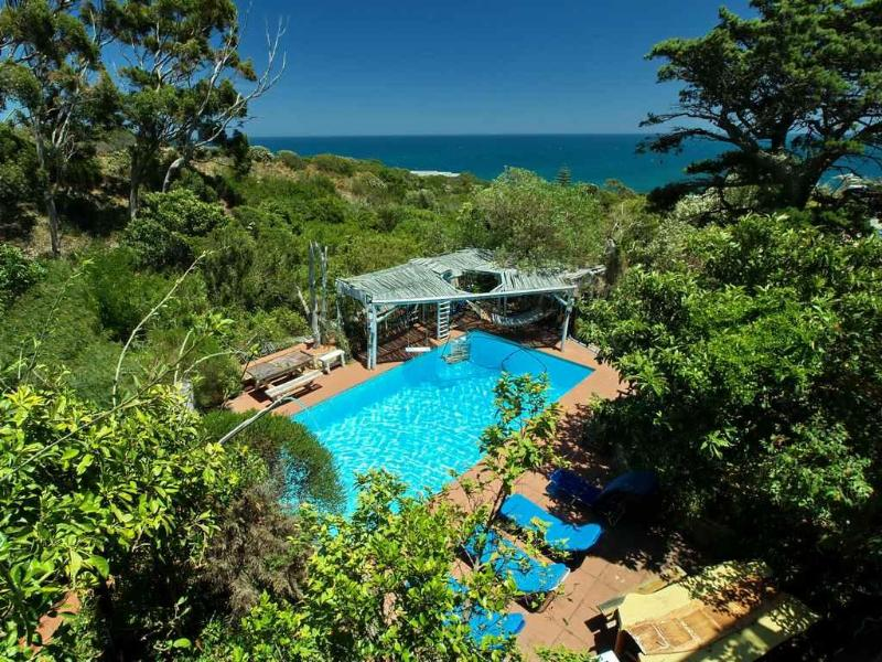 massive pool and hammocks in Bali style shade - CAMPSBAYGLEN - THE RIVERSIDE - STUDIO C - Cape Town - rentals