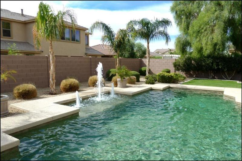 Large Shasta heated pebble tech pool - Exquisite 4500 sq feet estate with resort backyard and former model home, 1 mile to Wigwam - Goodyear - rentals