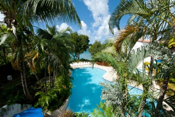 Lovely poolside view  - Merlin Bay-Gingerbread: Private Roof Deck - Saint James - rentals