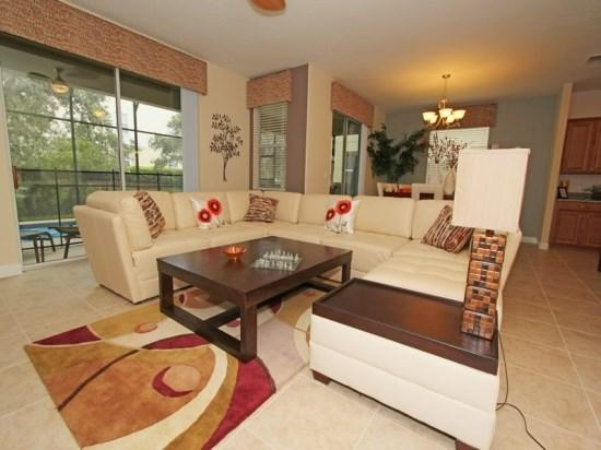 Family Room - PP6P8953CPR 6BR Stunning Villa Close to Walt Disney World - Four Corners - rentals