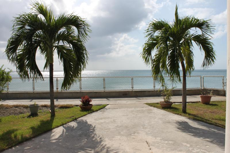 Backyard facing the ocean - Casa Bonita Beachfront Vacation Home - Rincon - rentals