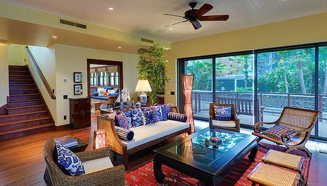 Some of the best times on Maui are spent reliving sights and adventures of the day with family or friends.  Fully retractable doors lead from the great room to the lanai, pool, and lawn. - Sun Dreamz - Lahaina - rentals