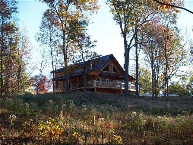 front of the house - Stunning modern luxury log home with amazing view - Makanda - rentals
