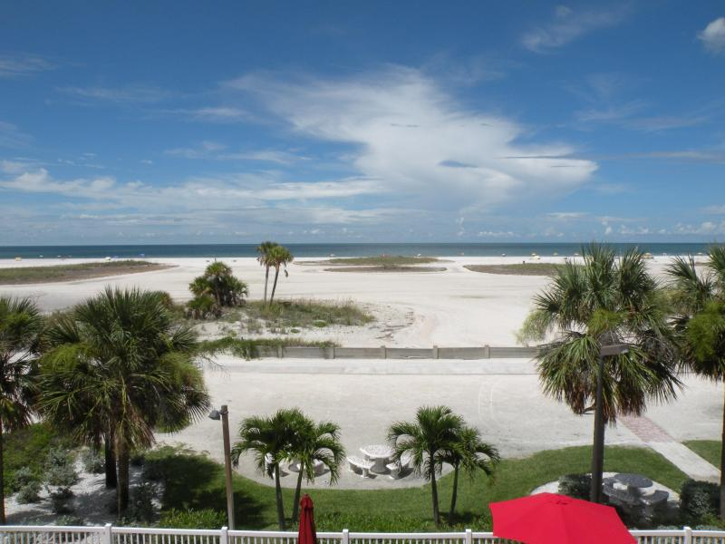 View From the Balcony - Stunning Sunsets in a 2BD/2BA Condo on the Gulf! - Treasure Island - rentals
