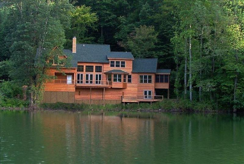 view from lake - Lake Santeetlah House Nestled in Smoky Mountains - Lake Santeetlah - rentals