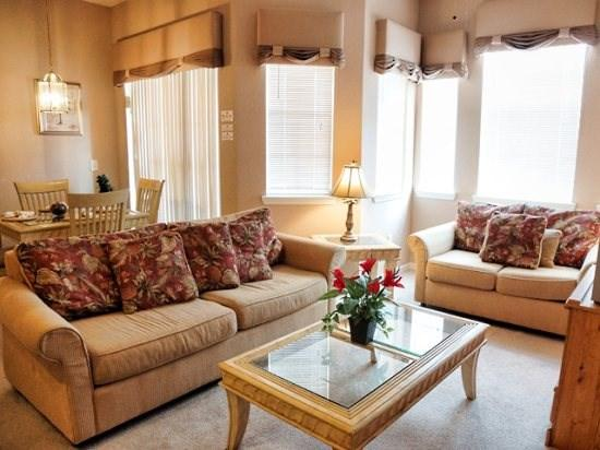 Living Area - TR2C619TRC 2 BR Stunning Rental Condo Just 6 Miles to Disney - Davenport - rentals