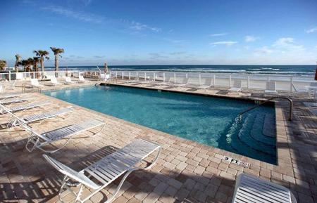 Pool view. - Fall $pecials 1100.00 Opus Luxury Condo on the Beach 3BR-2BA 201 - Daytona Beach Shores - rentals