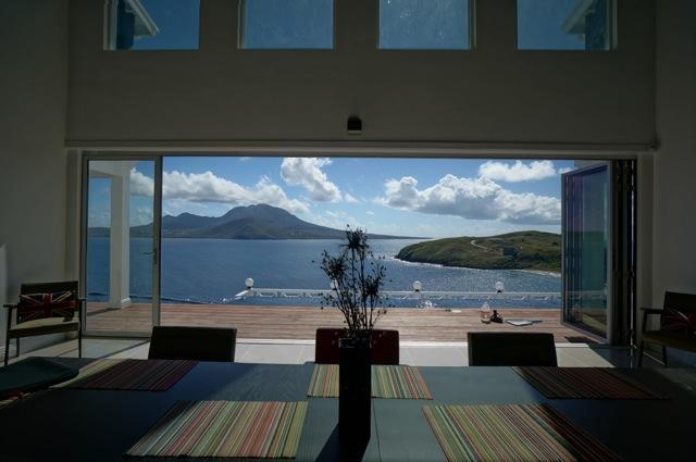 dine surrounded with amazing setting - Gorgeous New Villa with Beach & Sea Views - Turtle Beach - rentals