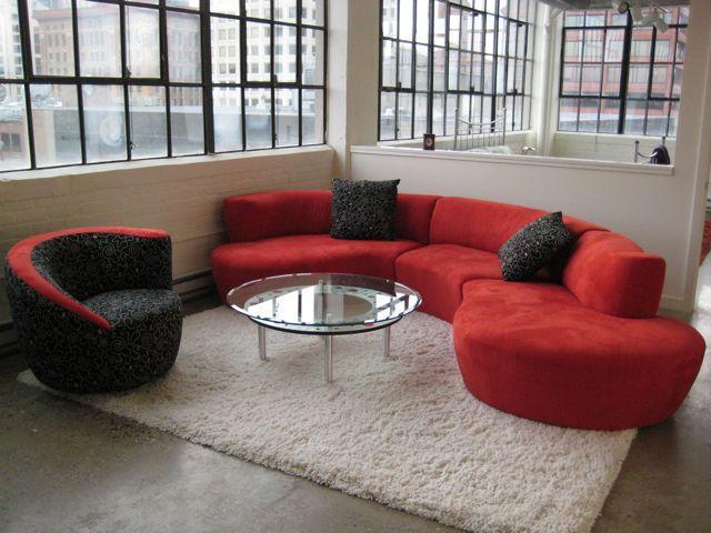 Living room with view of skyline - Luxury Loft in Historic District - Philadelphia - rentals