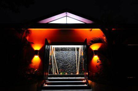 Elegant entrance to Villa Perezoso w/ waterfall - Top Rated Stunning Luxury Villa w Staff and Chef - Manuel Antonio - rentals